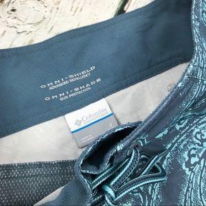 Columbia Shorts - Columbia Omni Shield Shade Shorts Sz 2 Blue Hiking